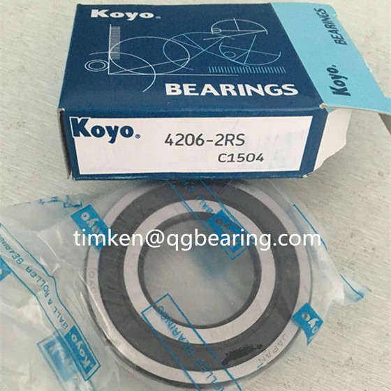 Japan brand Koyo deep groove ball bearing 4206-2RS